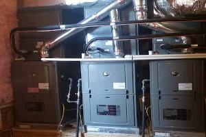 Line of furnace units